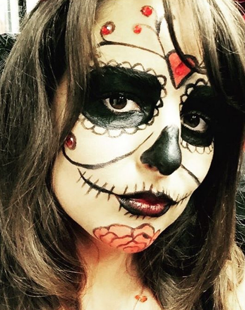 Day of the Dead Halloween Make-up Becca Gray Make-Up Artist