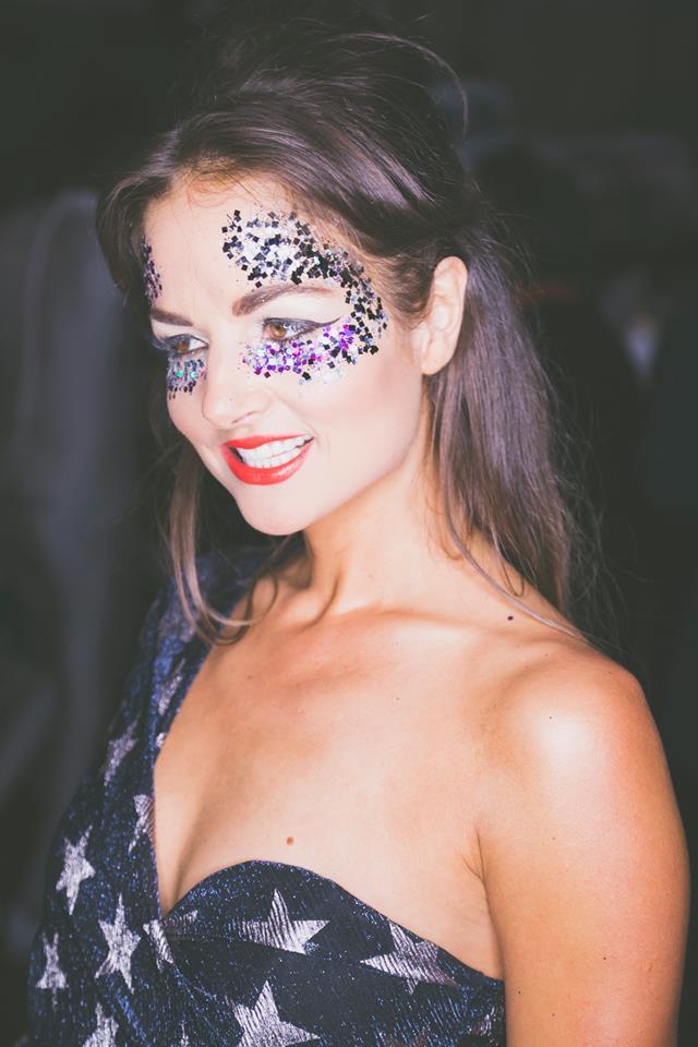 Glamerous glitter Halloween Make-up Becca Gray Make-Up Artist