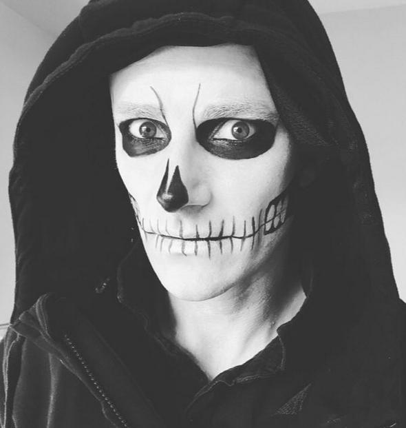 Men's Halloween Make-up Becca Gray Make-Up Artist