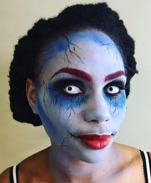 cartoon corpose zombie Halloween Make-up Becca Gray Make-Up Artist