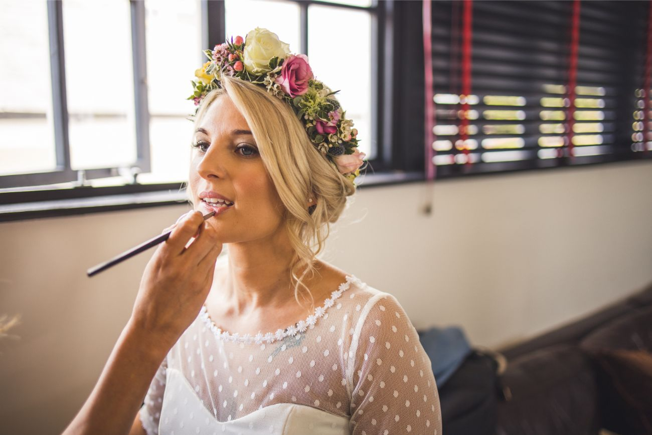 Wedding day makeup for the bride